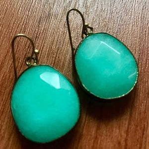 Anthropologie Tristan Earrings in Green/Turquoise